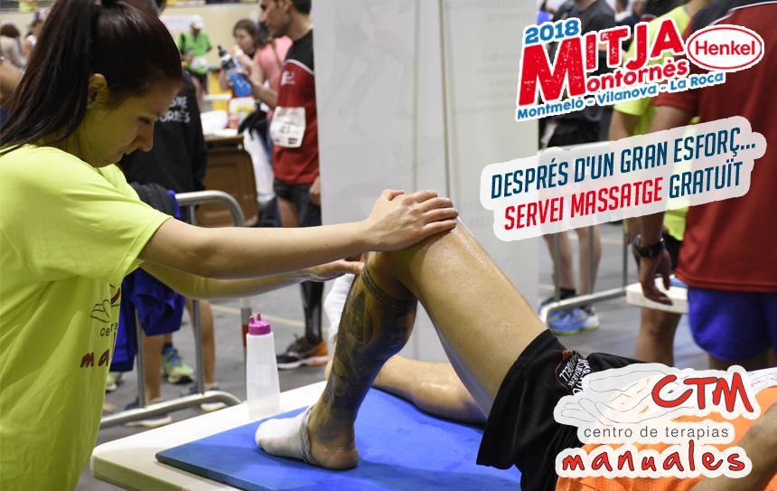 Servei de massatges per als corredors.