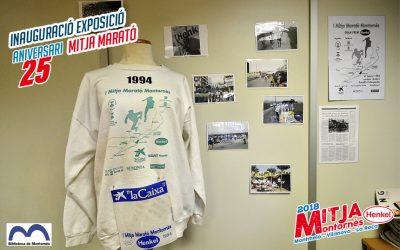 Inauguració exposició 25 aniversari Mitja Marató