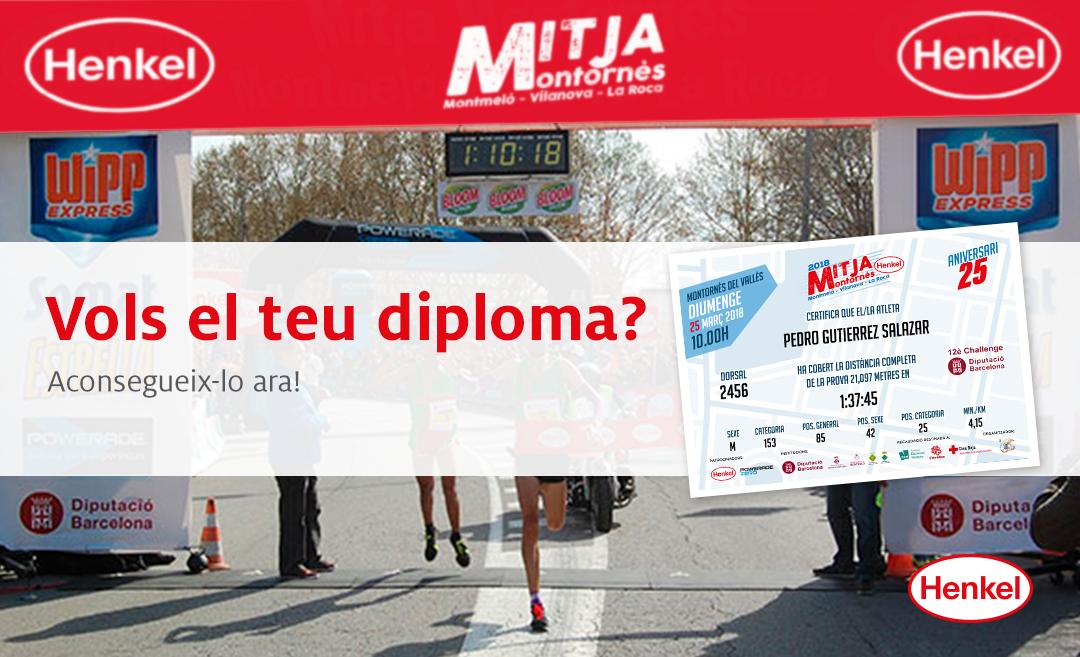 El teu Diploma Personalitzat Mitja Marató i Cursa 6K