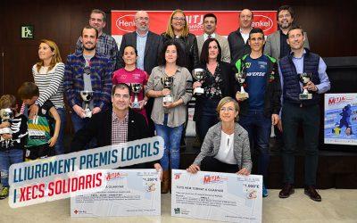 Lliurats els premis als atletes locals i les donacions solidàries de la 25ªMitja Montornès-Montmeló-Vilanova-La Roca.