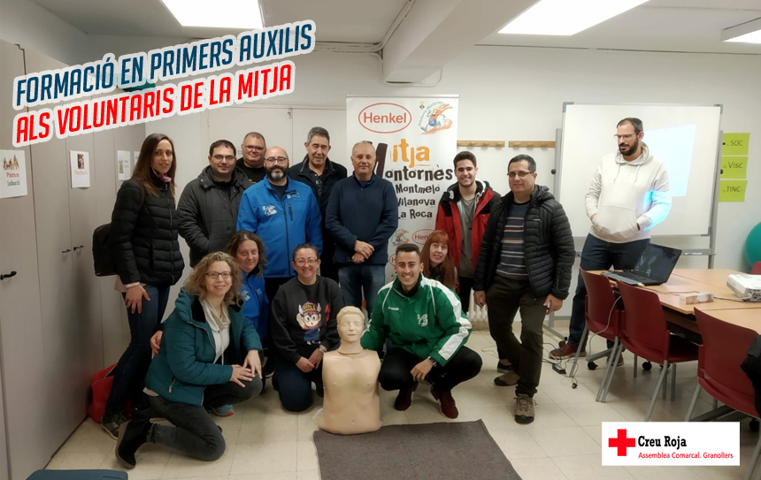 Creu Roja forma en primers auxilis als voluntaris de la Mitja