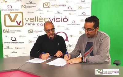 Signat l'acord amb Vallès Visió