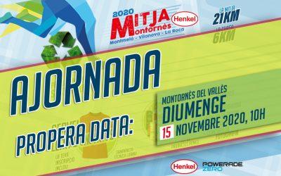 Ajornament de la Mitja Marató, Cursa 6Km i Mini Marató Solidària a causa per prenvenció Corona Virus